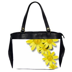 Flowers Spring Yellow Spring Onion Office Handbags (2 Sides)