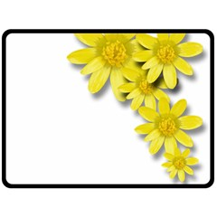 Flowers Spring Yellow Spring Onion Fleece Blanket (Large)