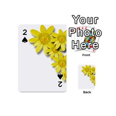 Flowers Spring Yellow Spring Onion Playing Cards 54 (Mini)