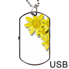 Flowers Spring Yellow Spring Onion Dog Tag USB Flash (Two Sides)