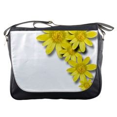 Flowers Spring Yellow Spring Onion Messenger Bags