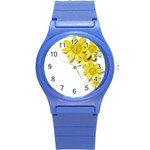 Flowers Spring Yellow Spring Onion Round Plastic Sport Watch (S) Front
