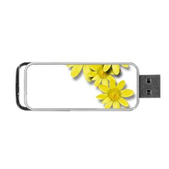Flowers Spring Yellow Spring Onion Portable Usb Flash (two Sides)