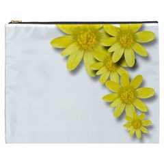 Flowers Spring Yellow Spring Onion Cosmetic Bag (XXXL)