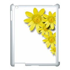 Flowers Spring Yellow Spring Onion Apple iPad 3/4 Case (White)