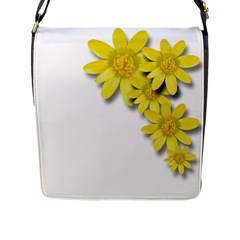 Flowers Spring Yellow Spring Onion Flap Messenger Bag (l)