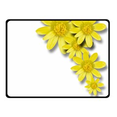 Flowers Spring Yellow Spring Onion Double Sided Fleece Blanket (small)