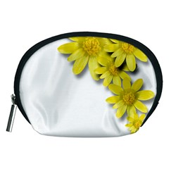 Flowers Spring Yellow Spring Onion Accessory Pouches (medium)