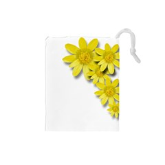 Flowers Spring Yellow Spring Onion Drawstring Pouches (small)