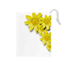 Flowers Spring Yellow Spring Onion Drawstring Pouches (medium)