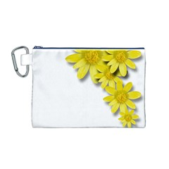 Flowers Spring Yellow Spring Onion Canvas Cosmetic Bag (m)