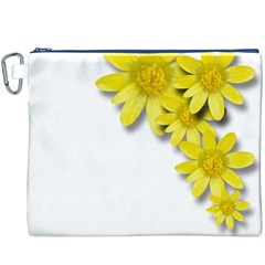 Flowers Spring Yellow Spring Onion Canvas Cosmetic Bag (XXXL)