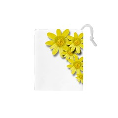 Flowers Spring Yellow Spring Onion Drawstring Pouches (xs)