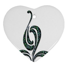 Scroll Retro Design Texture Ornament (heart)