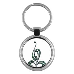 Scroll Retro Design Texture Key Chains (round)