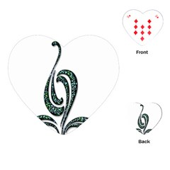 Scroll Retro Design Texture Playing Cards (Heart)