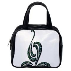 Scroll Retro Design Texture Classic Handbags (One Side)