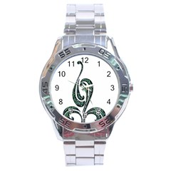 Scroll Retro Design Texture Stainless Steel Analogue Watch