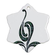Scroll Retro Design Texture Ornament (snowflake)
