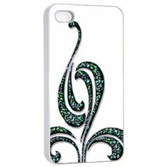 Scroll Retro Design Texture Apple Iphone 4/4s Seamless Case (white)