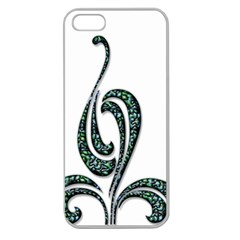 Scroll Retro Design Texture Apple Seamless Iphone 5 Case (clear)