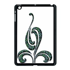 Scroll Retro Design Texture Apple Ipad Mini Case (black)