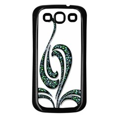 Scroll Retro Design Texture Samsung Galaxy S3 Back Case (black)