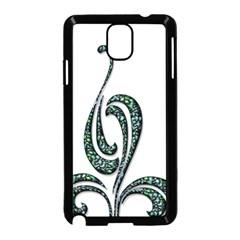 Scroll Retro Design Texture Samsung Galaxy Note 3 Neo Hardshell Case (black)