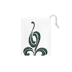 Scroll Retro Design Texture Drawstring Pouches (xs)