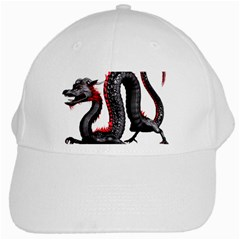 Dragon Black Red China Asian 3d White Cap