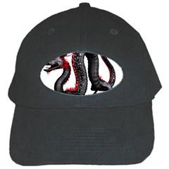 Dragon Black Red China Asian 3d Black Cap