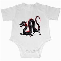 Dragon Black Red China Asian 3d Infant Creepers