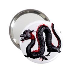 Dragon Black Red China Asian 3d 2 25  Handbag Mirrors