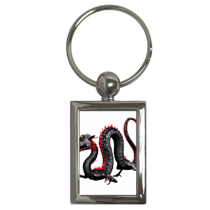 Dragon Black Red China Asian 3d Key Chains (Rectangle)