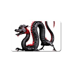 Dragon Black Red China Asian 3d Magnet (name Card)