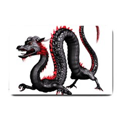 Dragon Black Red China Asian 3d Small Doormat