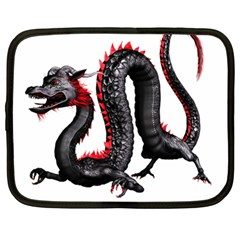 Dragon Black Red China Asian 3d Netbook Case (Large)