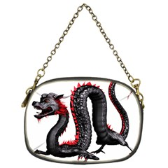 Dragon Black Red China Asian 3d Chain Purses (two Sides)