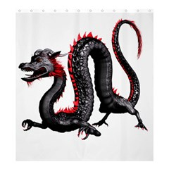 Dragon Black Red China Asian 3d Shower Curtain 66  x 72  (Large)