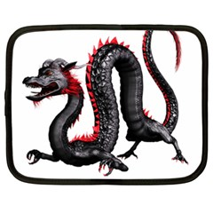 Dragon Black Red China Asian 3d Netbook Case (XXL)
