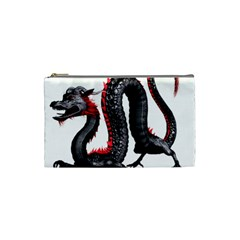 Dragon Black Red China Asian 3d Cosmetic Bag (small)