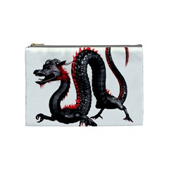 Dragon Black Red China Asian 3d Cosmetic Bag (medium)
