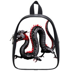 Dragon Black Red China Asian 3d School Bags (Small)