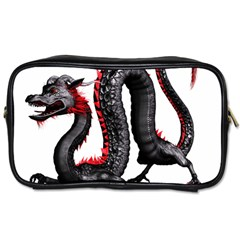 Dragon Black Red China Asian 3d Toiletries Bags 2 Side