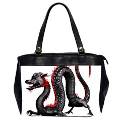 Dragon Black Red China Asian 3d Office Handbags (2 Sides)