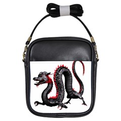 Dragon Black Red China Asian 3d Girls Sling Bags