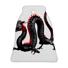 Dragon Black Red China Asian 3d Bell Ornament (Two Sides)