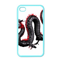 Dragon Black Red China Asian 3d Apple iPhone 4 Case (Color)