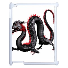 Dragon Black Red China Asian 3d Apple Ipad 2 Case (white)