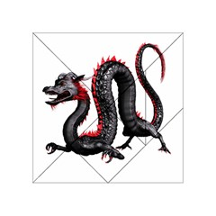Dragon Black Red China Asian 3d Acrylic Tangram Puzzle (4  x 4 )
